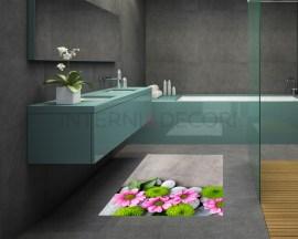 Adesivo per pavimenti-pietre e margherite