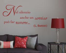 Adesivo murale-Lucio Battisti-Nel cuore, nell'anima