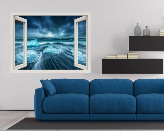 Finestra illusione-ghiaccio nel mare