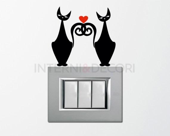 Mini sticker murale-Gatti in amore