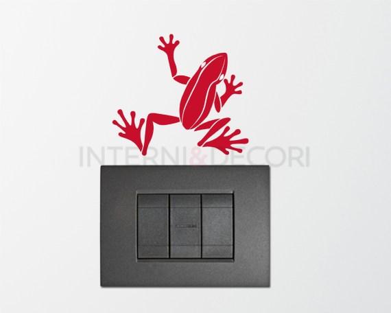 Mini sticker murale-una rana sul muro