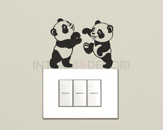 Mini sticker murale-panda teneroni