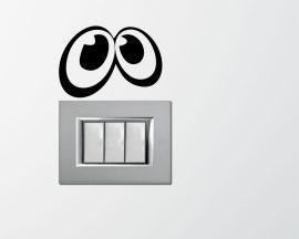 Mini sticker murale-occhi curiosi