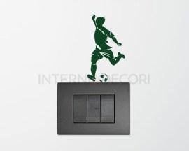 Mini sticker murale-giocatore che tira in porta