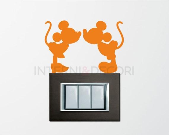 Mini sticker murale-Topolino e Minnie