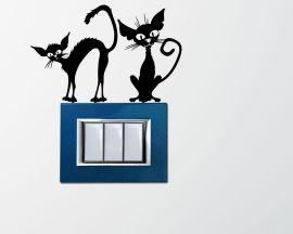 Adesivo per interruttori mini sticker murale-gatti spelacchiati