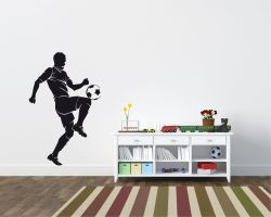 Adesivo murale-giocatore che palleggia