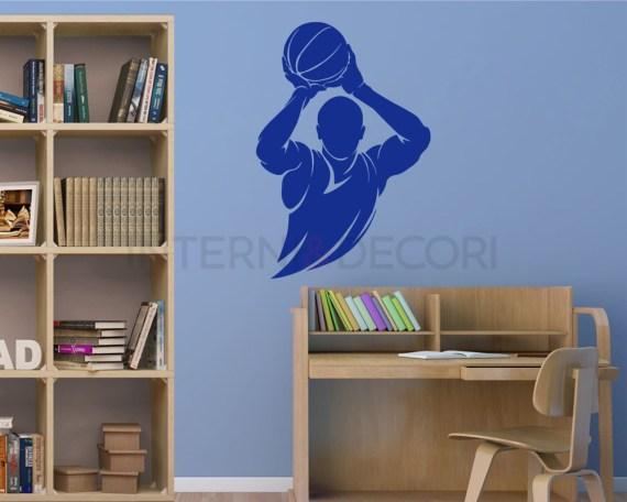Adesivo murale-giocatore di basket