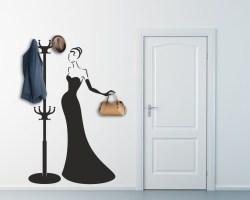 Appendiabiti design-donna in abito da sera