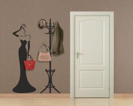 Appendiabiti design-donna in abito da sera n.2