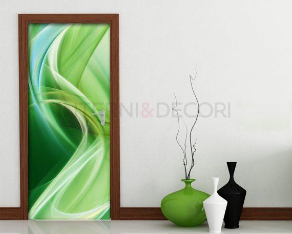 Adesivo per porte-sfumature di verde