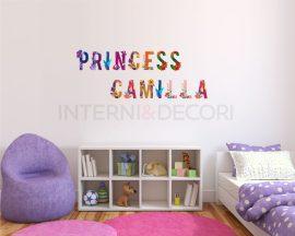 """Adesivo murale con nome-lettere adesive da muro """"alfabeto floreale"""""""