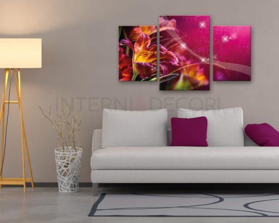 Stampa su tela-flowerlight-quadro moderno fiori