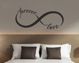 Adesivo murale-forever love-adesivo da parete infinity