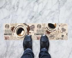 Segnaletica caffè gustami a distanza-Adesivi Covid-19