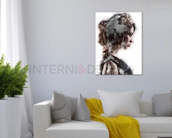 Stampa su tela-profilo di donna-quadro moderno