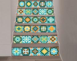 Decorazione per scale-turquoise stairs-adesivo per scale