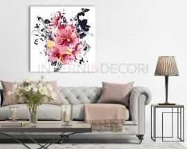 Stampa su tela-orchidee e e farfalle-quadro moderno fiori