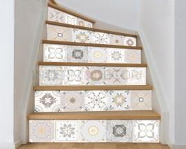 Decorazione per scale-gradazioni di tortora-adesivo per scale