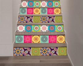 Decorazione per scale-coloured stairs-Adesivo per scale