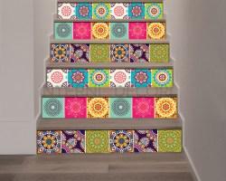 Decorazione per scale-coloured stairs-Adesivo per scale