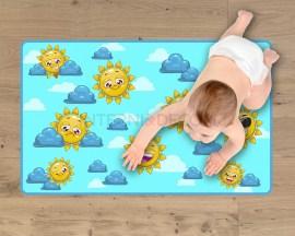 Adesivo per pavimenti-tappeto adesivo-sole e nuvole