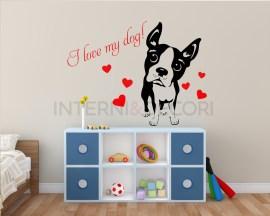 I love my dog-adesivo murale cani