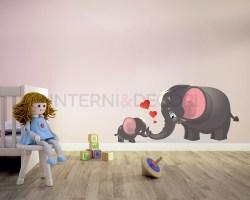 Adesivo da parete elefantini-infinita dolcezza-adesivo murale