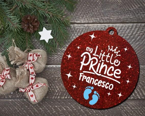 Decorazioni a taglio laser-my little prince-pallina personalizzata con nome