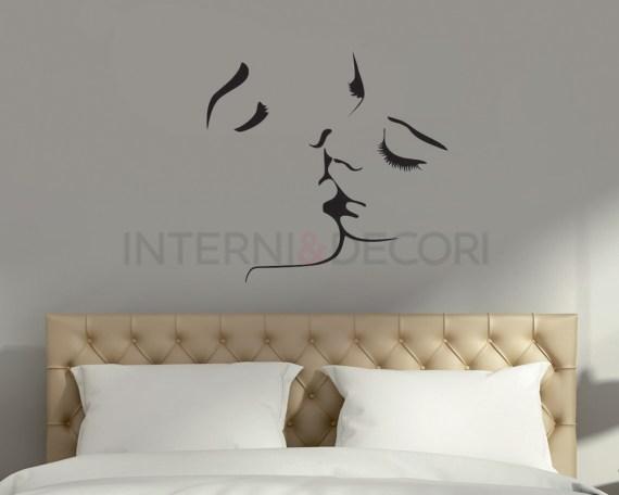 Adesivo murale-un romantico bacio-adesivo da parete amore