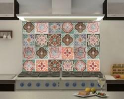 Green azulejos-adesivi per piastrelle