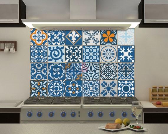Azulejos Porto-adesivi per piastrelle-paraschizzi adesivi