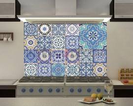 Blue azulejos-adesivi per piastrelle