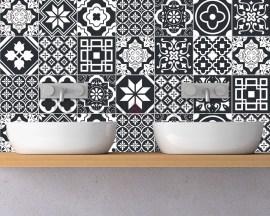 Black azulejos-adesivi per piastrelle