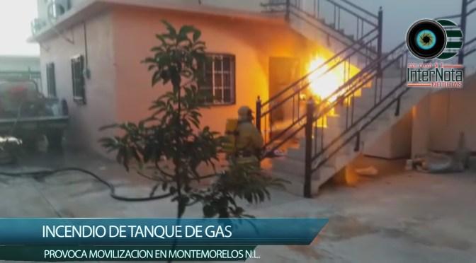 INCENDIO DE TANQUE DE GAS PROVOCA MOVILIZACION