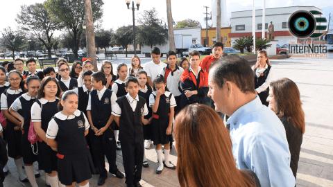 ALUMNOS DEL COLEGIO SIGLO XXI VISITAN EL MUNICIPIO DE ALLENDE N.L