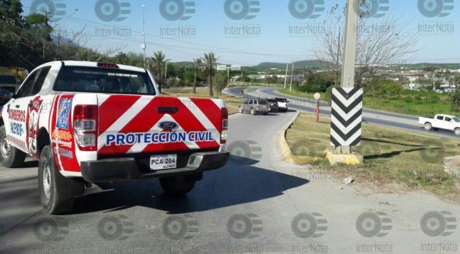 ACCIDENTE EN COMPLEJO VIAL DE LA CARRETERA ALLENDE- CADEREYTA.