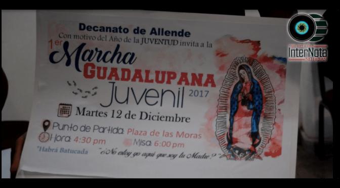 INVITAN A PRIMER MARCHA GUADALUPANA JUVENIL 2017.