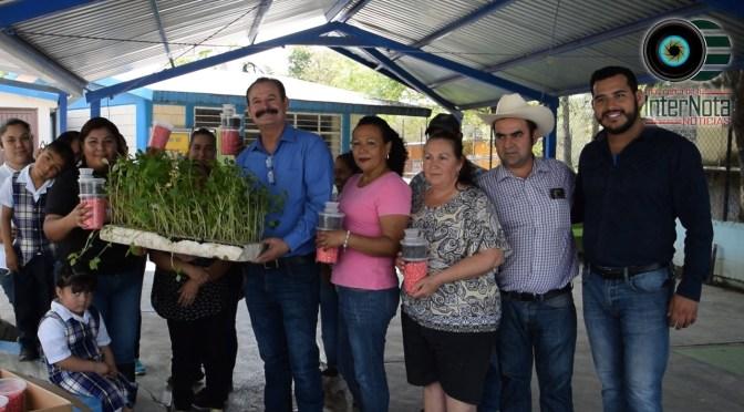 VISITAN COMUNIDADES RURALES CON EL PROGRAMA HUERTO ESCOLAR EN ALLENDE, N.L