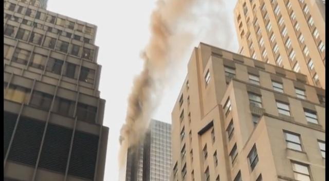 SE VIRALIZAN VIDEOS DEL INCENDIO EN LA TORRE TRUMP DE NUEVA YORK
