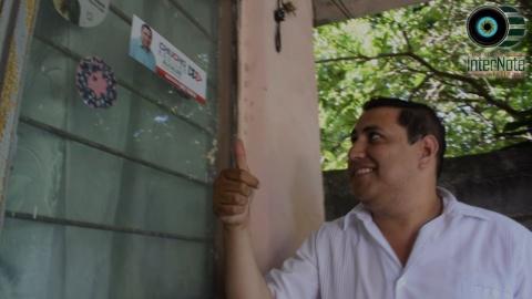 CANDIDATO A LA ALCALDIA POR EL PRI JESUS AGUILAR HERNANDEZ RECORRIO CALLES DEL CENTRO PARA DAR A CONOCER SUS PROPUESTAS EN HUALAHUISES, N.L.