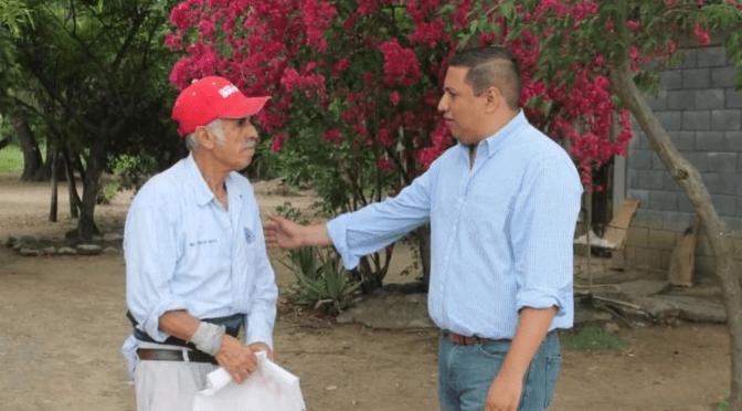 CANDIDATO A LA ALCALDÍA DE HUALAHUISES JESÚS AGUILAR HERNÁNDEZ RECORRE COMUNIDAD LA LAJA