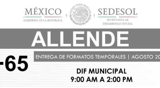 PRÓXIMA ENTREGA DE APOYOS EN ALLENDE, N.L.