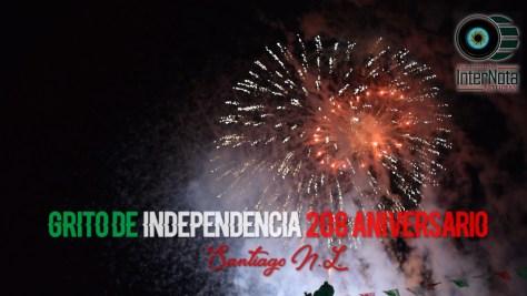 CONMEMORAN EL 208 ANIVERSARIO DE LA INDEPENDENCIA DE MEXICO EN SANTIAGO N.L.