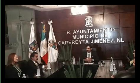 ERNESTO QUINTANILLA, PRESIDENTE MUNICIPAL, ENCABEZA LA PRIMERA JUNTA DE CABILDO DEL MUNICIPIO DE CADEREYTA JIMENEZ N.L.