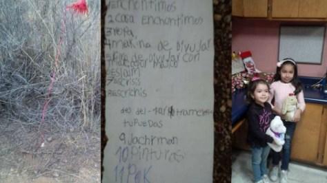 nina-carta-santa-clausPAREJA CUMPLE DESEOS DE NIÑA MEXICANA TRAS ENCONTRAR SU LISTA DE NAVIDAD