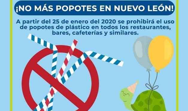 ¡OFICIAL! PROHÍBE NUEVO LEÓN EL USO DE POPOTES