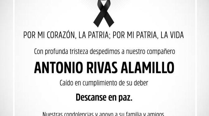 ELEMENTO DE FUERZA CIVIL FALLECE SEMANAS DESPUES DE SER ATACADO.