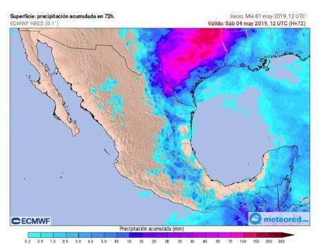 CALOR, TORMENTAS Y GRANIZADAS EN MÉXICO