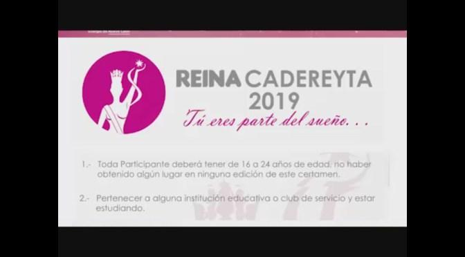 PARTICIPA EN EL CERTAMEN DE REINA  CADEREYTA 2019